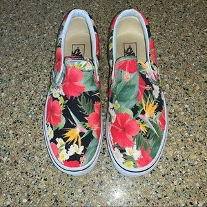 VANS classic slip on aloha floral